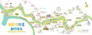 基隆河濱自行車道地圖